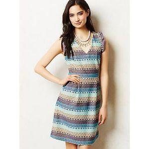 Tabitha Teahouse Dress Blue Embroidered Sheath